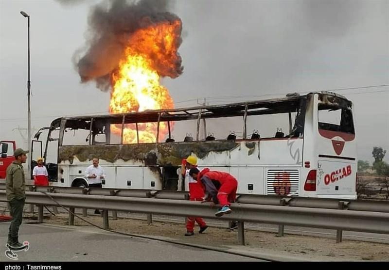 جزئیات جدید از علت حریق اتوبوس در مسیر آزادراه اهواز به ماهشهر - 8