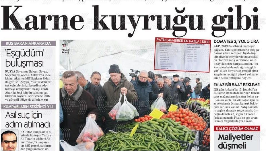 نشریات ترکیه در یک نگاه|تشکیل صف در برابر مراکز دولتی توزیع میوه/ دیدار وزرای دفاع روسیه و ترکیه در مورد ادلب - 3